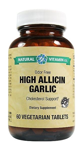 Amazon Com Natural Vitamin Co High Allicin Garlic Garlic 500mg