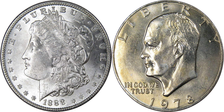 Ike Dollars 5-Coin Lot