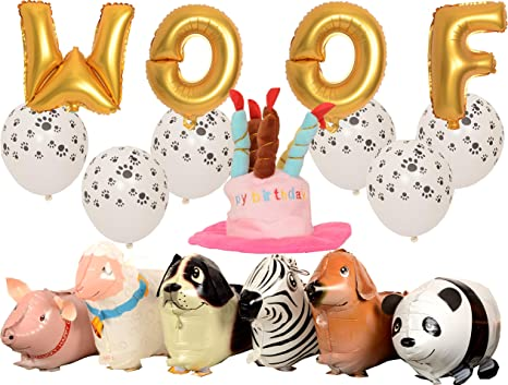 MEANT2TOBE - Kit de decoración de cumpleaños para Perro, diseño de ...