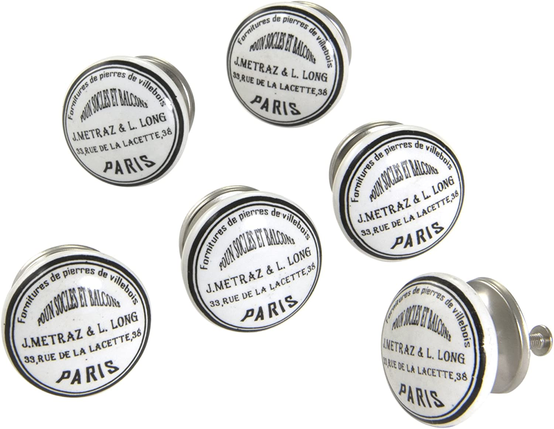 "Lot of 20 Black 1.5/"" Diameter Ceramic Ball Shape Cabinet//Drawer Knobs"