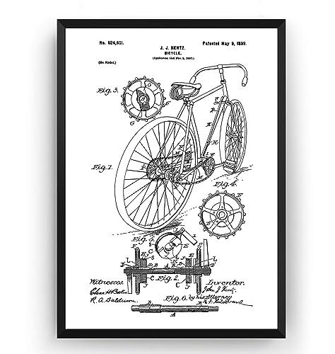 Bicicleta de Carreras 1899 Poster de Patente - Patent Póster Con ...