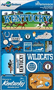 Reminisce Jet Setters Dimensional Stickers-Kentucky