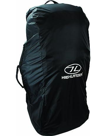 Highlander ACC007-BK - Funda de mochila, color negro, talla 80-100l