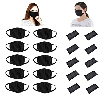 8cd642bc4af OUTOFBOX 10 Pieces Reusable Anti-pollution Dust Cotton Unisex Mouth Mask  and 10 Pieces Non