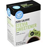 Amazon Brand - Happy Belly Zero Calorie Stevia Sweetener, 140 Count (Previously Sugarly Sweet)