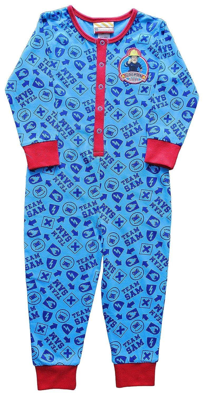 Fireman Sam-Tuta intera da 2 a 6 anni, con il pompiere Sam il pompiere Sam, All In One, pigiama pigiama blu 4 anni V8-10VN-64EZ