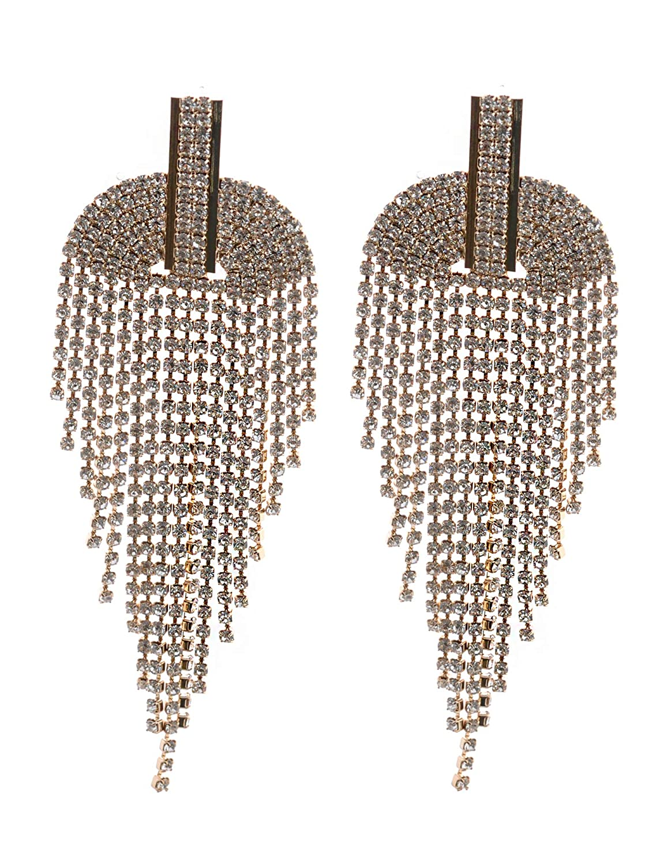 Topwholesalejewel Fashion Earring Silver Plating Multi Chain Dangle Earrings