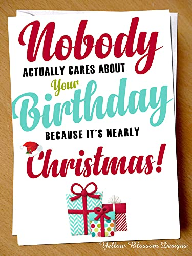 Comical Funny Birthday Greeting Card Happy December Birthday No One