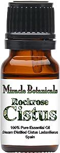 Miracle Botanicals Rockrose Cistus Essential Oil - 100% Pure Cistus Ladaniferus - Therapeutic Grade - 10ml
