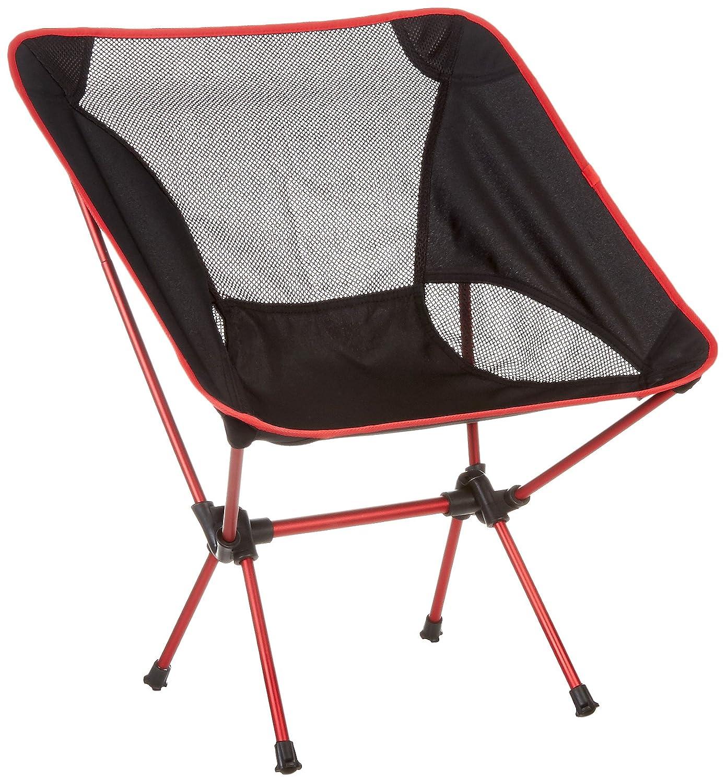 Moon Lence Sillas plegables portátiles ultraligeros de Altas Prestaciones para sillas de camping playa, altura ajustable (rojo)