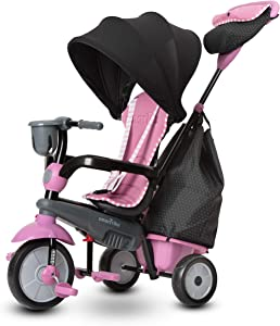 smarTrike Swirl Toddler Tricycle for 1,2,3 Year Olds - 4 in 1 Multi-Stage Trike, Pink