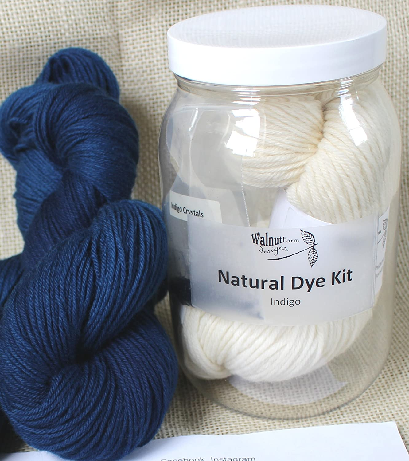 54c02c59c Amazon.com: Indigo Dye Kit for Naturally Plant Dyed Yarn Natural Plant  Dyeing for Knitting, Crochet, Weaving: Everything Else