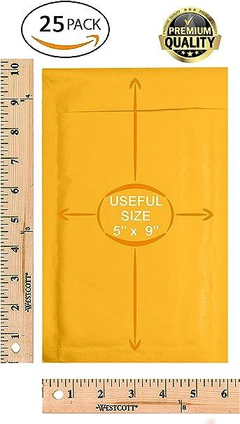color marr/ón para env/ío embalaje. tama/ño 0 autoadhesivo papel kraft biodegradable 150 mm x 215 mm Paquete de 10 sobres acolchados ecol/ógicos compostable