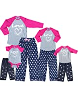 Pretty Pink Mommy Me Baby Baseball Shirt Polka Dot Sets - Mother Daughter Matching
