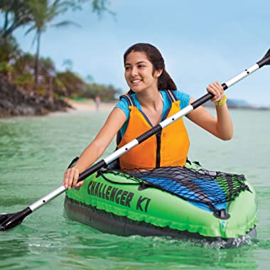 Intex Challenger K1 1-Person Inflatable Sporty Kayak w/Oars and Pump