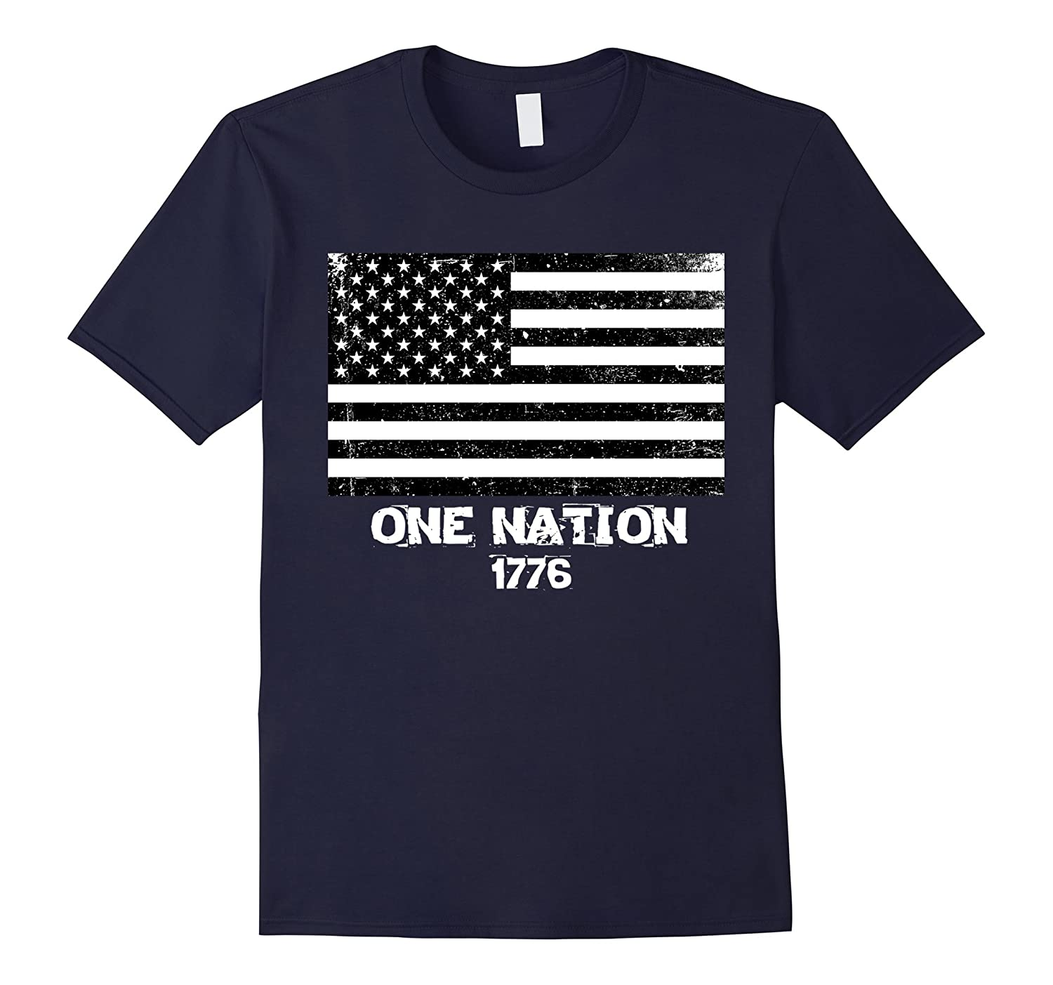 USA Flag One Nation 1776 T Shirt 4th of July Shirt-Art