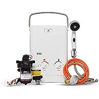 Eccotemp CEL5 - Calentador de agua portátil (1,5 GPM, con diafragma EccoFlo de 12 V, bomba y colador)