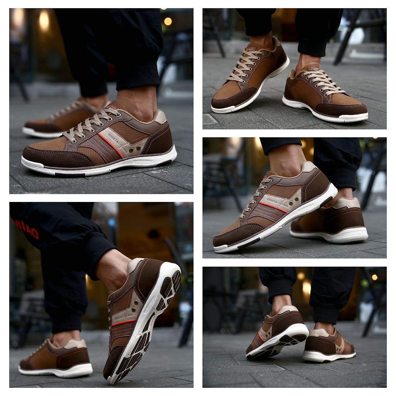 9 UK, A9099-brown AX BOXING Mens Casual Shoes Trainers Shoes Multisport Running Walking Gym Shoe Sport Mens Sneakers /…