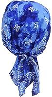 Fitted Bandana Cap Biker - Blue Batik Paisley