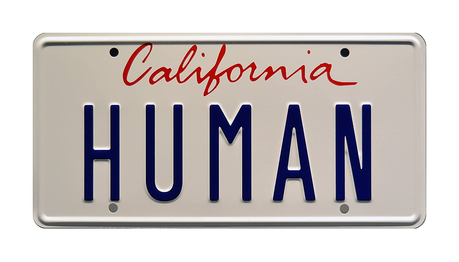 Daft Punk HUMAN Electroma Ferrari Metal Stamped Vanity Prop License Plate Celebrity Machines