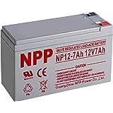 NPP 12V 7Ah Rechargeable SLA Sealed Lead Acid Battery F1 Terminals