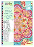 2017 2018 A5 Academic diary with Colour Therapy Patterns