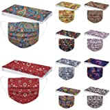50Pcs Unisex Adults Face Masks, Disposable 3-Ply Breathable, Comfortable Earloops Colorful Printed, Ideal for Men Women