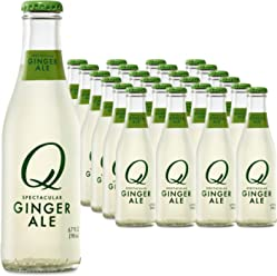 Q Drinks, Q Ginger Ale, Spectacular Ginger Ale, Premium Mixer, 6.7 Ounce Bottle (Pack of 24)
