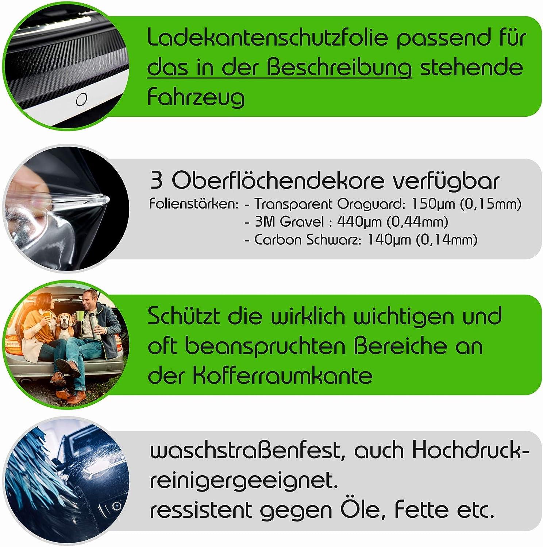 Finest Folia Ladekantenschutz Lackschutzfolie Inklusive Rakel Filz Passgenauer Zuschnitt Für Ihr Fahrzeug Schutz Kofferraum L012 L037 Carbon Schwarz L012 5f St Kombi Auto