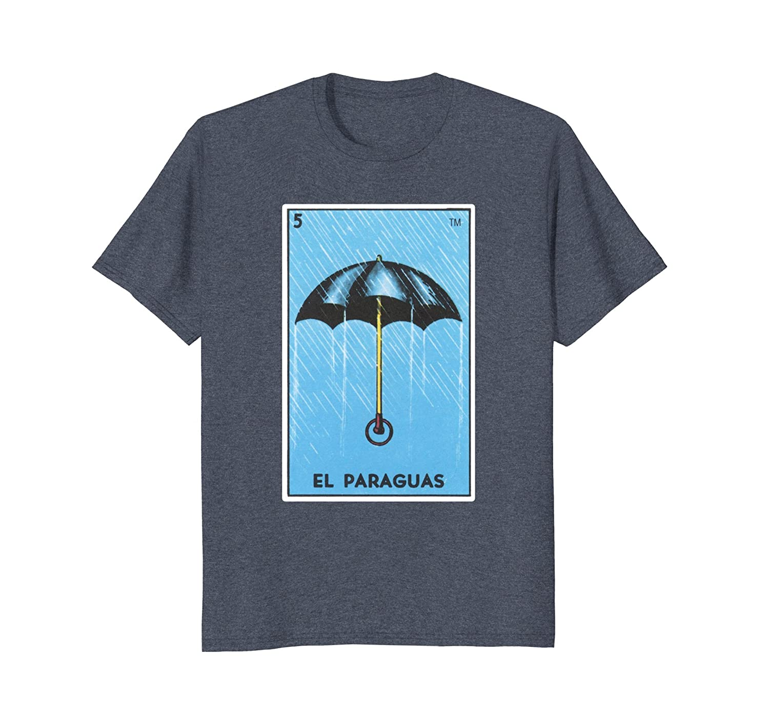 Amazon.com: El Paraguas Card Loteria Shirt Umbrella Mexican Bingo Tarot: Clothing