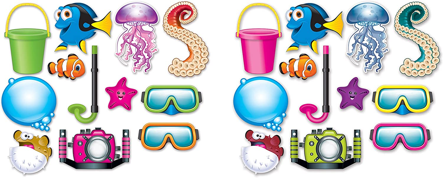Amazon Com Beistle 24piece Under The Sea Photo Fun Signs 4 5 To 10 75 Multicolored Kitchen Dining