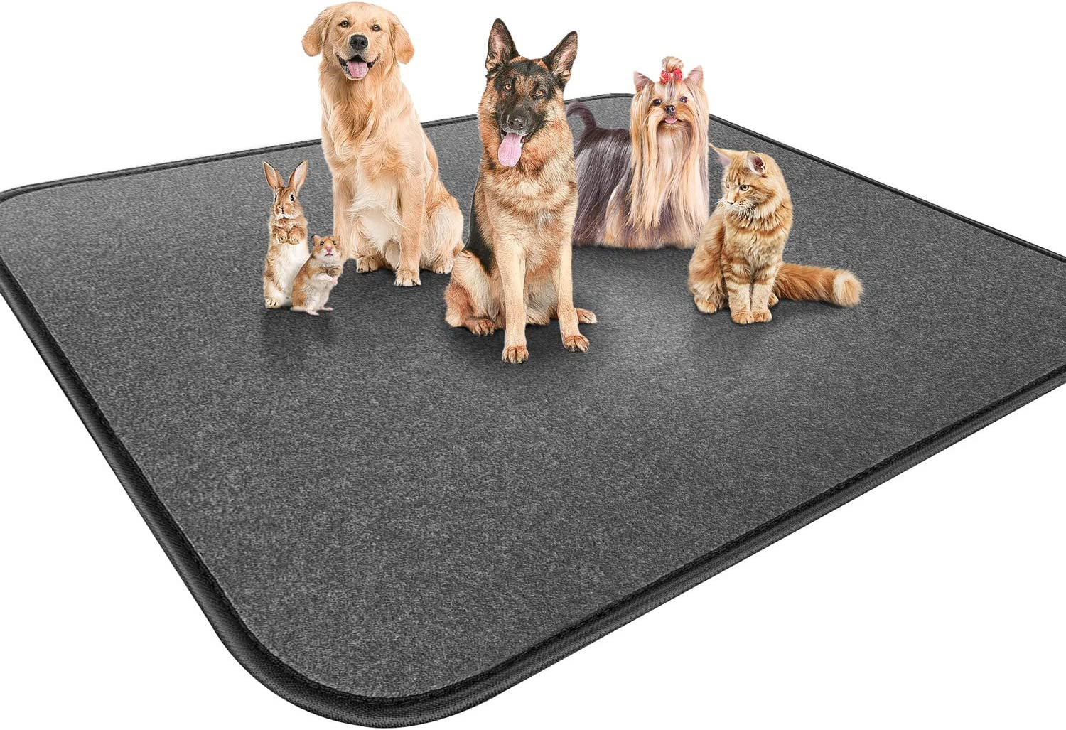 """Gimars Upgrade Heavy Absorbency Non-Slip Washable Dog Pee Pads, Reusable 72""""x72"""" Anti-Tear Dog Training Pads, Quick Dry Whelping Pads for Dogs, Dog Pads for Incontinence, Crate, Playpen"""