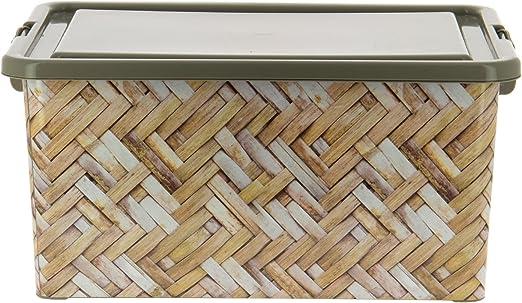 My Note Deco 065761 almacenaje, plástico 100 IML, marrón, Dimensiones Caja: 45,5 x 32 x 22 cm: Amazon.es: Hogar