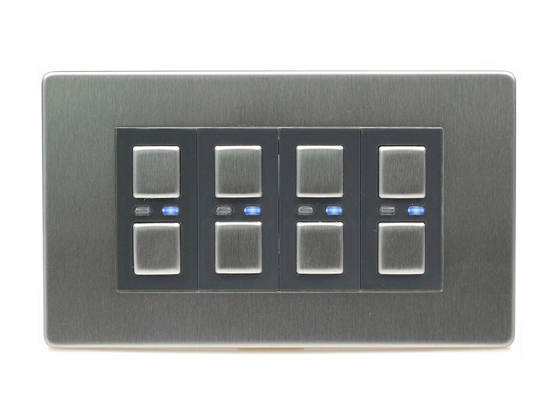 LightwaveRF Wireless Control 4-Gang, 2-Wege-Lichtschalter LW440 ...