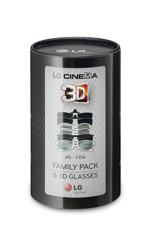 amazon com lg ag f216 cinema 3d glasses family pack 6 pairs for
