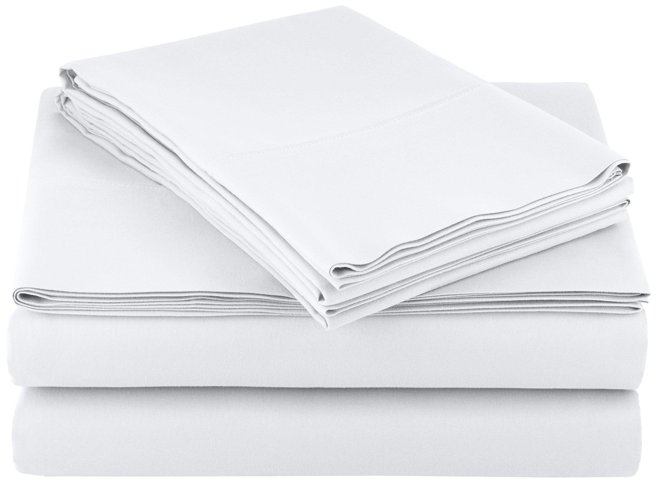 AmazonBasics Light-Weight Microfiber Sheet Set, King, Bright White by AmazonBasics