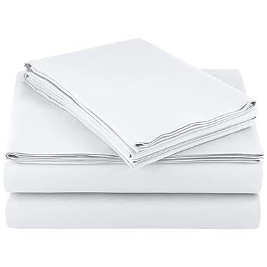 AmazonBasics Microfiber Sheet Set - King, Bright White