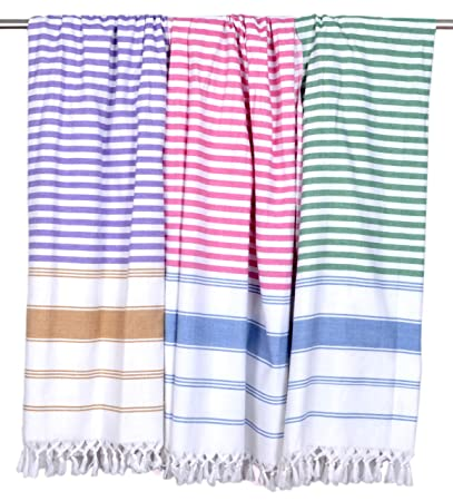 Sathiyas Soft Cotton Bath Towel-3 Pcs Combo (Multicolor)(30*60) (Green Lavender And Pink)