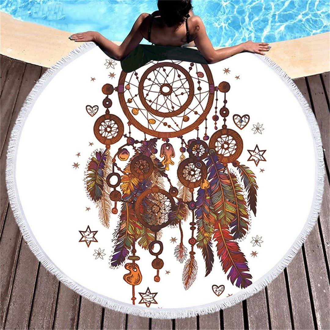 Amazon.com: Round Tassel Dreamcatcher Tapestry Boho ...