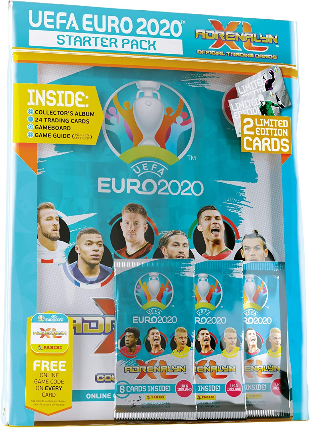 1 X Display//400 Cards Panini Adrenalyn XL UEFA Euro em 2020 Starter pack