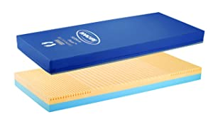 Invacare Softform Excel Fluid-Resistant Homecare Bed Mattress, 84 x 36 x 6 in, IXL1084,Blue