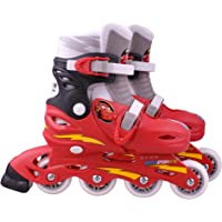 Disney STAMP CARS - J892302 - Vélo et Véhicule pour Enfant - Patins en Ligne Ajustable - Cars 2 - Taille 30-33