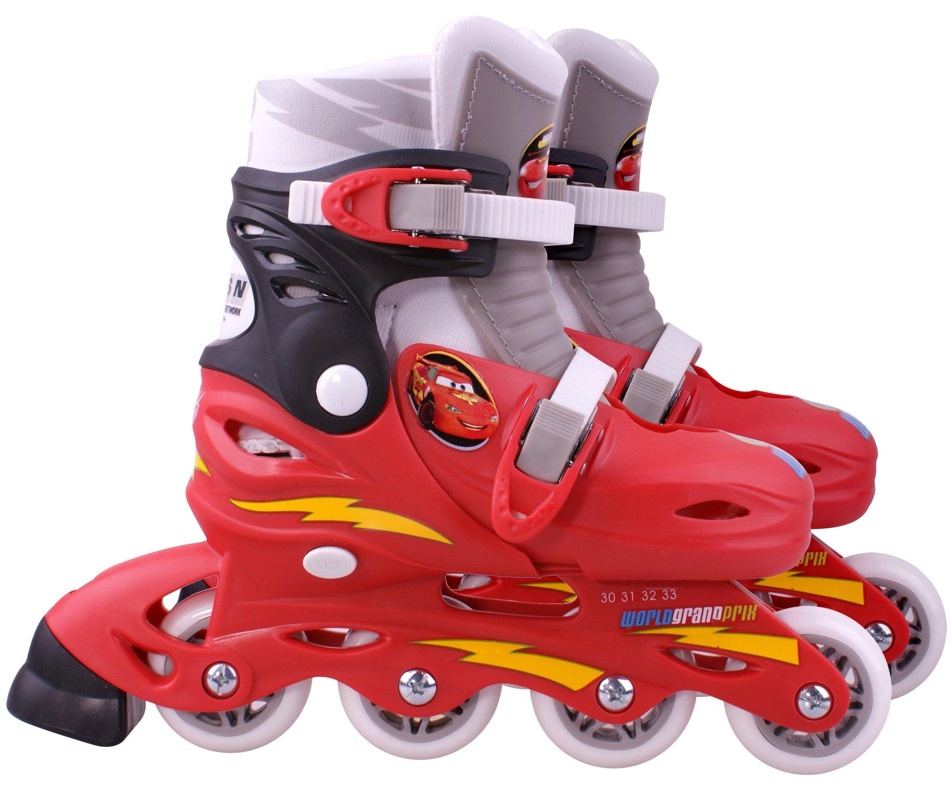 Disney Cars 2 Adjust Inline Skates Size 30 - 33