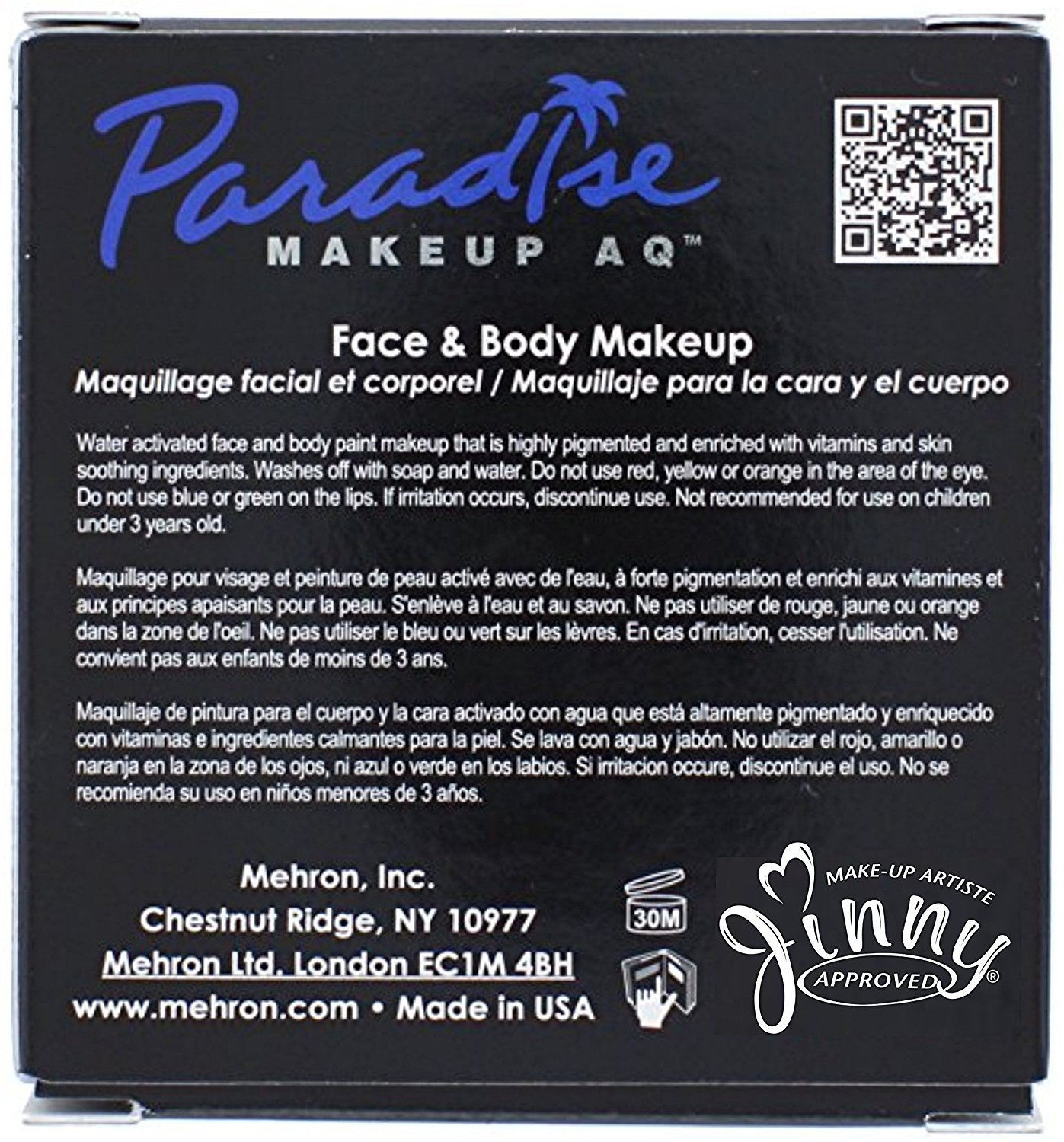 Amazon.com: Mehron Paradise BLACK - Face and Body Paint Pro Size 1.4 oz: Everything Else