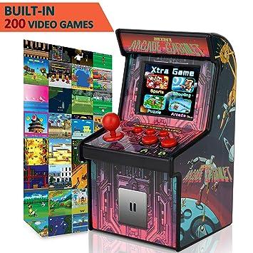 Amazon Com Gbd Kids Mini Retro Arcade Game Cabinet Machine 200