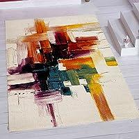 Merinos Halı PT001 Makine Halısı, Renkli, 120 cm x 170 cm