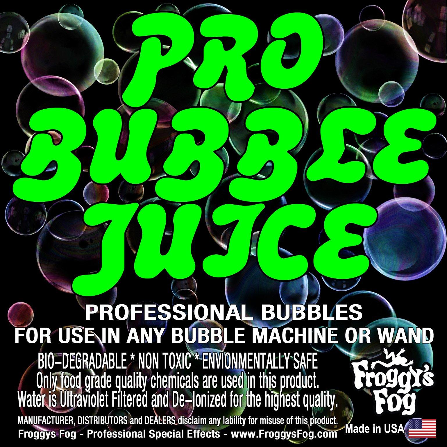 Froggys Fog - Pro Bubble Juice - Professional Bubble Fluid for All Bubble Machines and Bubblers - 4 Gallon Case