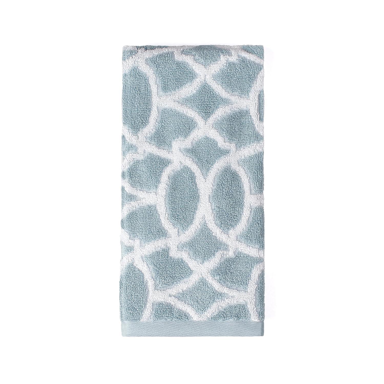 SKL Home by Saturday Knight Ltd Watercolor Lattice Bath Towel Blue R1425600805103