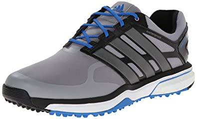 online retailer 3f55a 6f98a adidas Men s Adipower s Boost Golf Shoe, Light Onix Dark Silver  Metallic Bahia