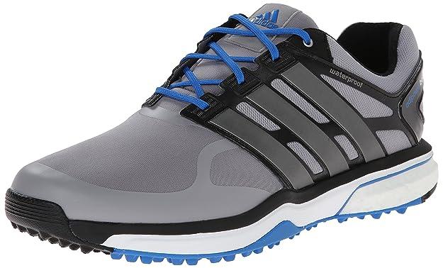 adidas Men's Adipower S Boost-M, Light Onix/Dark Silver Metallic/Bahia Blue, 9.5 M US